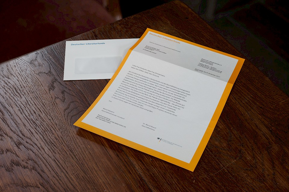 Letter and matching envelope